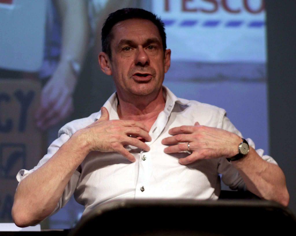 Paul Mason bei einem Vortrag im April 2015