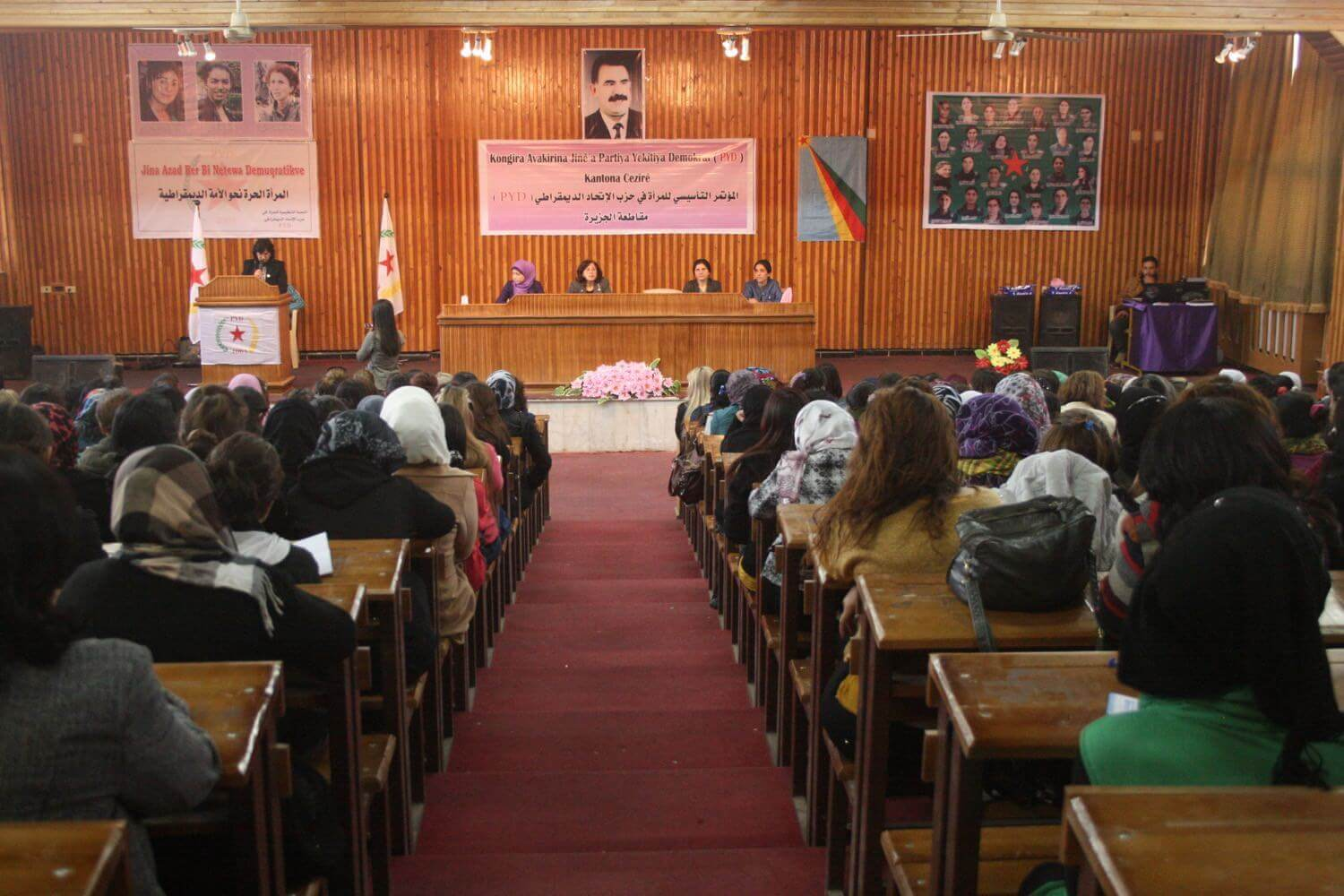 Women's congress of the PYD in the Congress centre of Qamishli, February 21, 2014