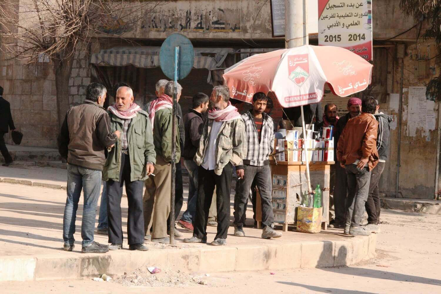 Day laborers from Aleppo Efrîn, February 3, 2015