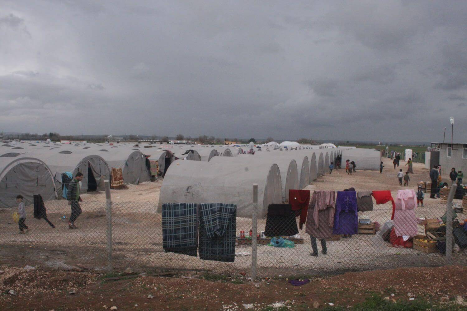 Refugees from Kobanê in a Camp in Southern Turkey Suruç, Februar 3, 2015