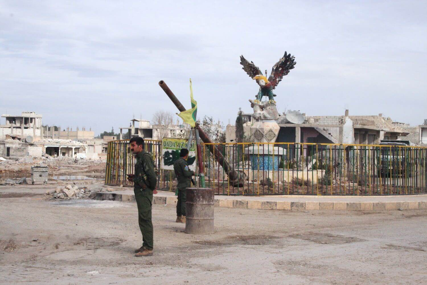 "Downtown Kobanê 10 months after its liberation from ""Islamic State"" November 5, 2015"
