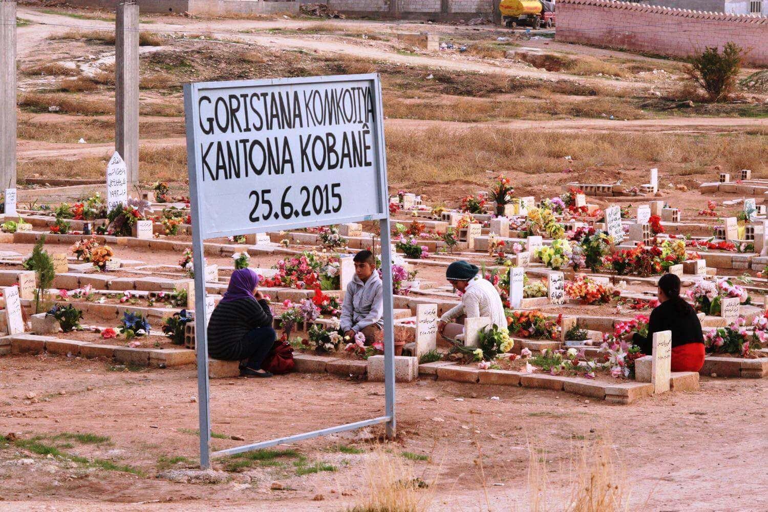Cemetry of the victims of the massacre from June 2015 Kobanê, November 5, 2015