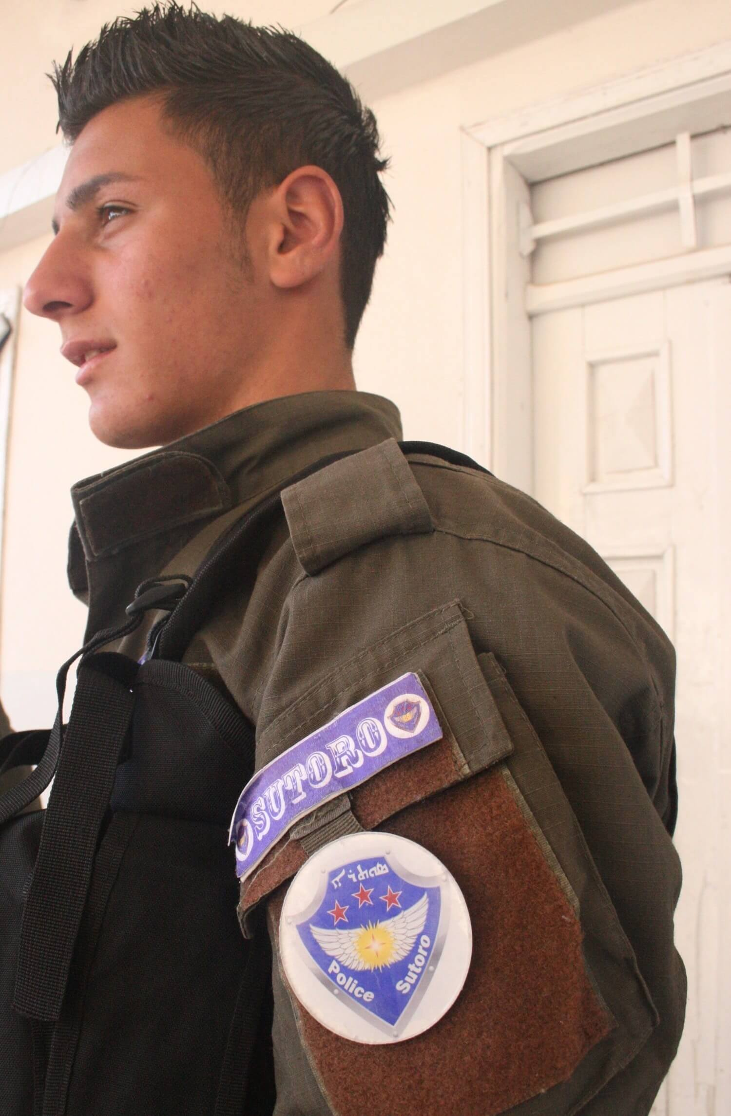 Policeman of Sutoro, the Christian-Assyrian police force Dêrik, February 19, 2014