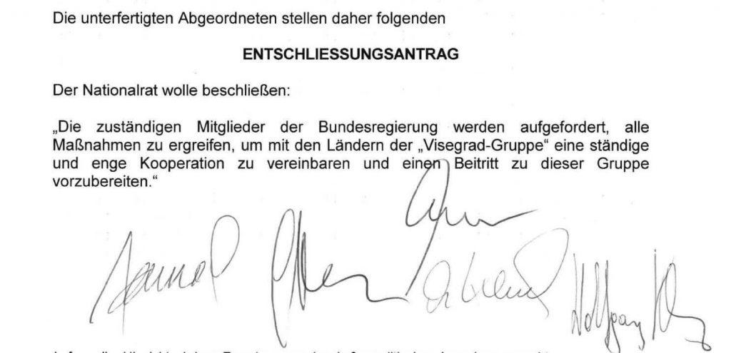 Visegrad Antrag-FPÖ