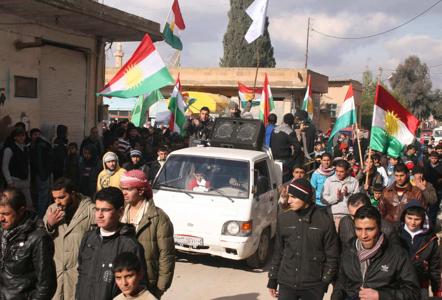 Demonstration of the parties of the Kurdish National Council in Syria Amûdê, January 11, 2013