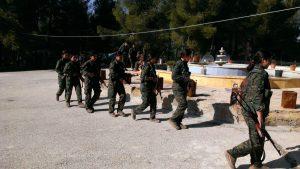 Kämpferinnen der Frauenverteidigungseinheiten YPJ stehen nun auch an vorderster Front in der Verteidigung Afrins gegen den türkischen Angriff. (Foto: Thomas Schmidinger)
