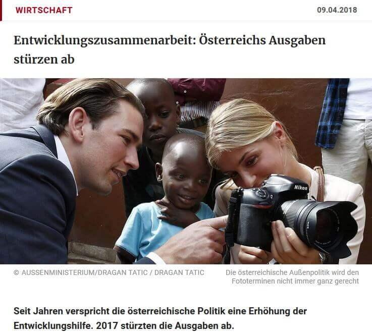 Entwicklungshilfe: Österreichs Ausgaben stürzen ab