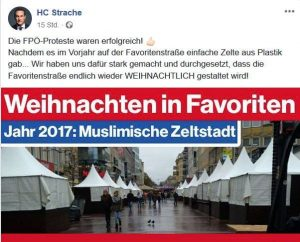 Die FPÖ wettert auf Facebook gegen Muslime