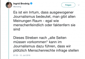 Was bedeutet objektiver Journalismus - eine Diskussion auf Twitter