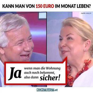 Mit ihrem 150 Euro-Sager sorgte Hartinger-Klein für einen Einzelfall