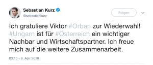 Kurz Gratulierte Orban via Twitter, Kurz & Orban, EVP,