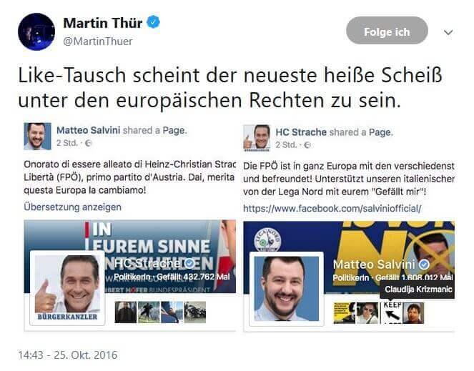 Salvini Lega Strache