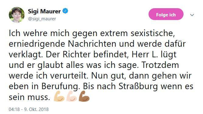 Sigi Maurer Sigrid Maurer Urteil Belästigung