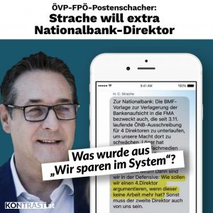 Strache Nationalbank SMS