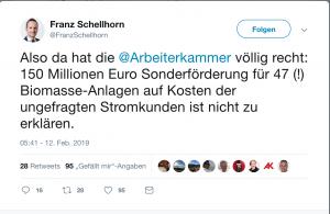 Arbeiterkammer und Franz Schellhorn von Agenda Austria sind sich einig was die Ablehnung der Ökostromnovelle betrifft.
