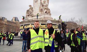 Monsieur Emri als Demo-Sanitäter bei den Protesten der Gelbwesten in Frankreich