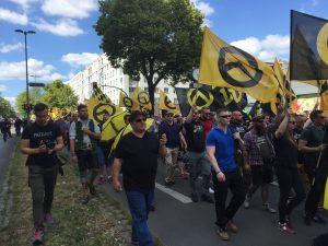 Identitäre Bewegung Demo