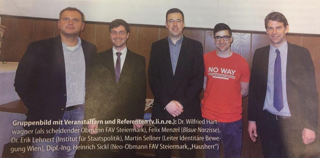 Gruppenbild mit Martin Sellner (Identitäre Bewegung) & FPÖ