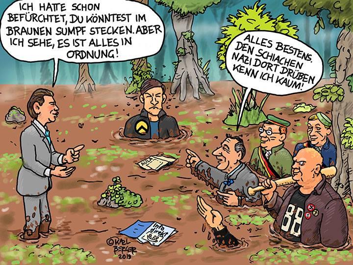 Cartoon Berger: Straches rechtsextremes Identitären-Umfeld: Alle Befürchtungen ausgeräumt