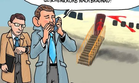 Sebastian Kurz Cartoon