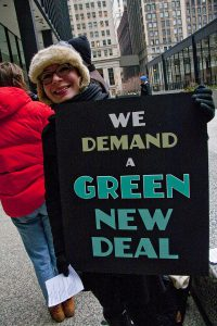 in Europa und den USA gefordert: progressive Klimapolitik in Gestalt eines Green New Deal