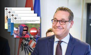 Strache auf Facebook: Alles dreht sich um Migranten. Arbeitslosigkeit und Mieten sind kein Thema.