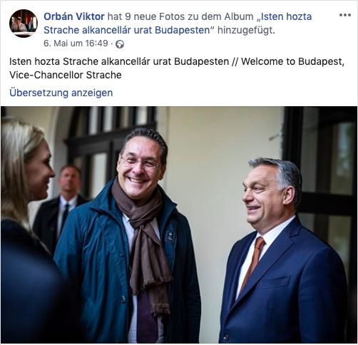 Strache trifft Orban in Ungarn im Beisein der Medien