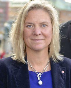 Schwedens Finanzministerin setzt sich für Klima ein. Ihre Mittel: Steuern und Recycling