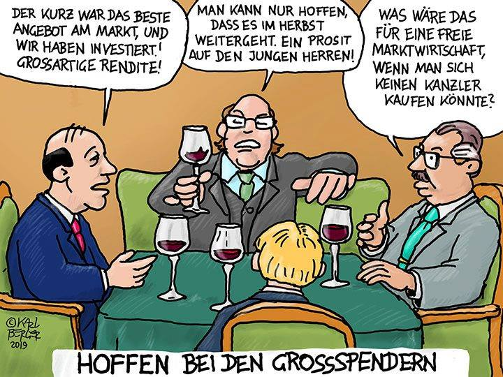 Cartoon Großspender