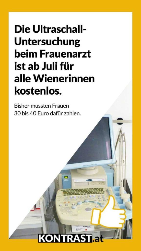 Ultraschall ab jetzt gratis in Wien