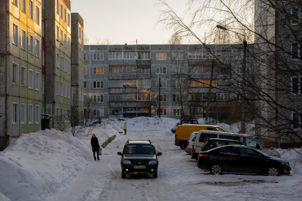 Russland Klischees: Klassische russische Blockhäuser