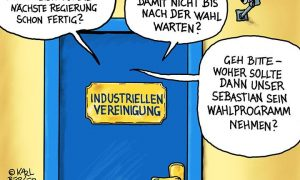 Cartoon Industriellenvereinigung