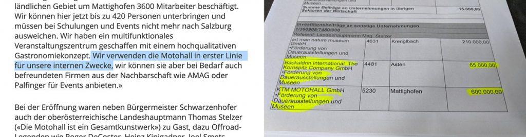 """KTM Motohall in Oberösterreich für """"interne Zwecke"""""""""""
