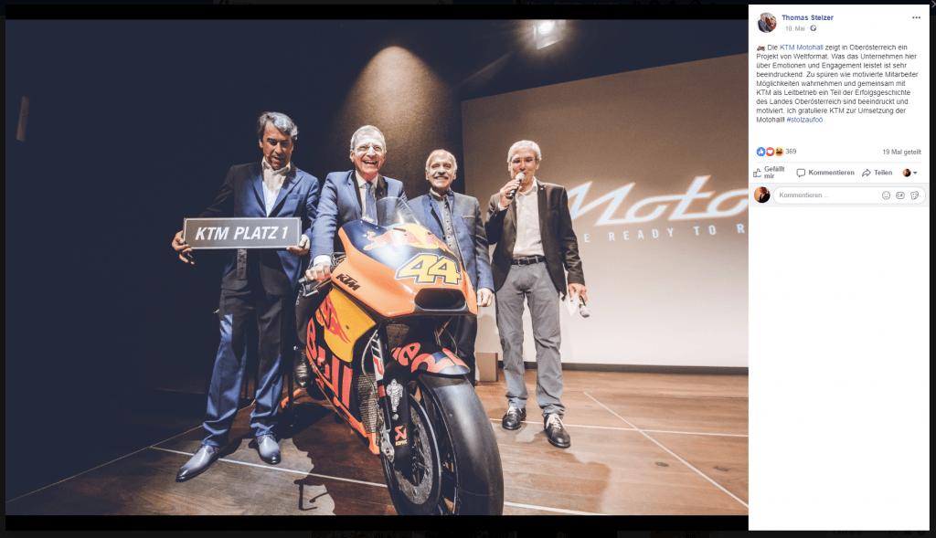 Pierer KTM Boni Dividende Kurzarbeit Staatshilfe