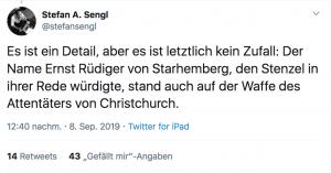Der Auftritt von Ursula Stenzel bei einer Demonstration der Identitären sorgte auch auf Twitter für Aufregung.