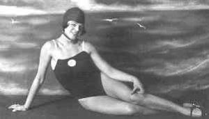 Hedy Bienenfeld-Wertheimer, erfolgreiche Schwimmerin der 1920er Jahre. (Artikel zu 110 Jahre SC Hakoah Wien, Juden, Antisemitismus)