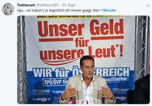 Der Bodyguard von Strache hat ausgepackt und belastet den Ex FPÖ Chef schwer. Außerdem bekommt seine Frau Philippa Strache ein Mega-Gehalt und Strache kann 10.000 Euro an Spesen pro Monat geltend machen. Das Netzt macht sich lustig darüber – hier ein Beispiel.