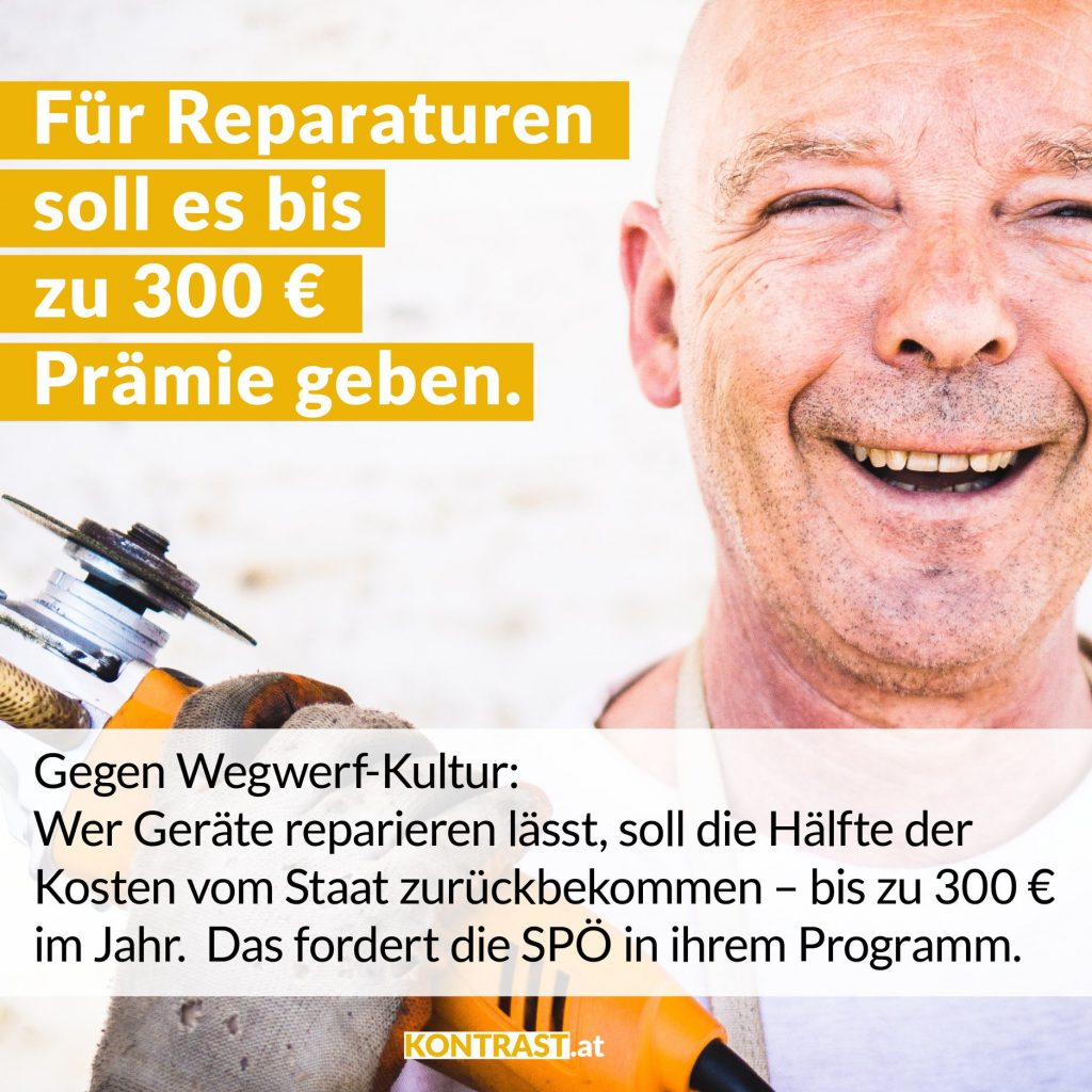 reparatur prämie reparaturprämie spö rendi-wagner 300 euro