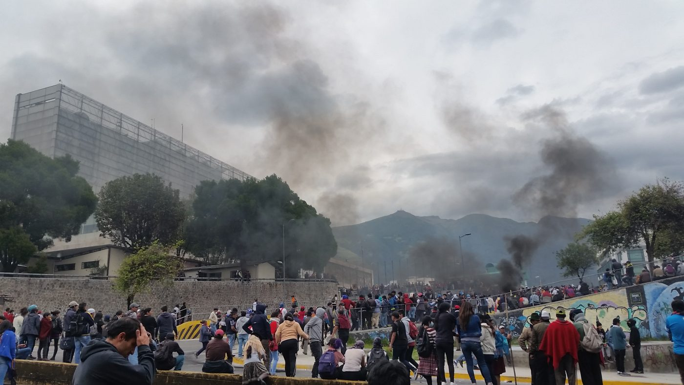 Ecuador Unruhen Proteste Benzinpreise