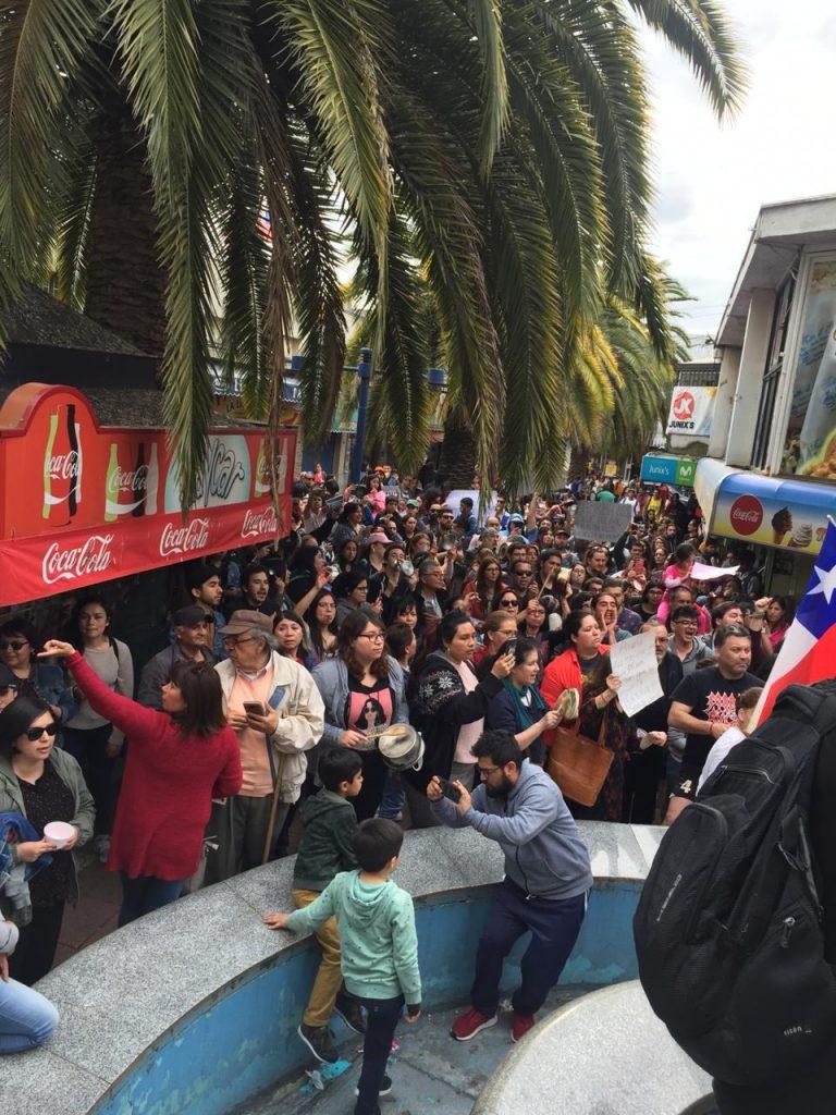 Chile Proteste Präsident