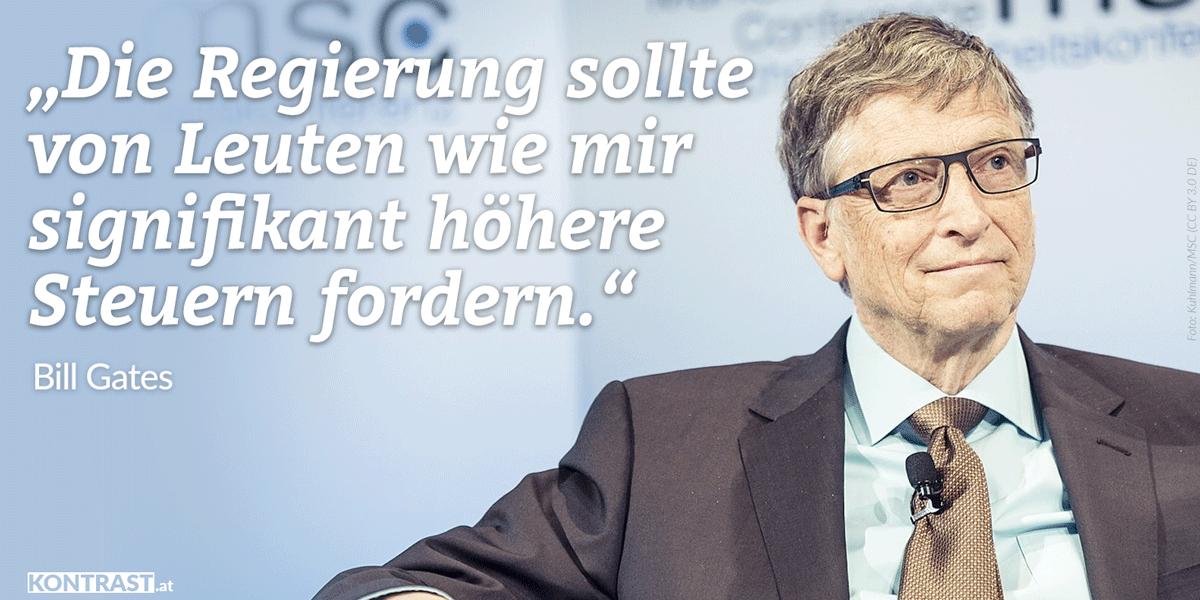 Bill Gates für Vermögen ssteuer