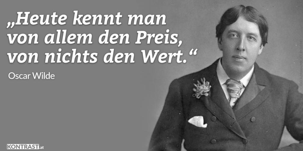 Oscar Wilde Zitat Preis Wert