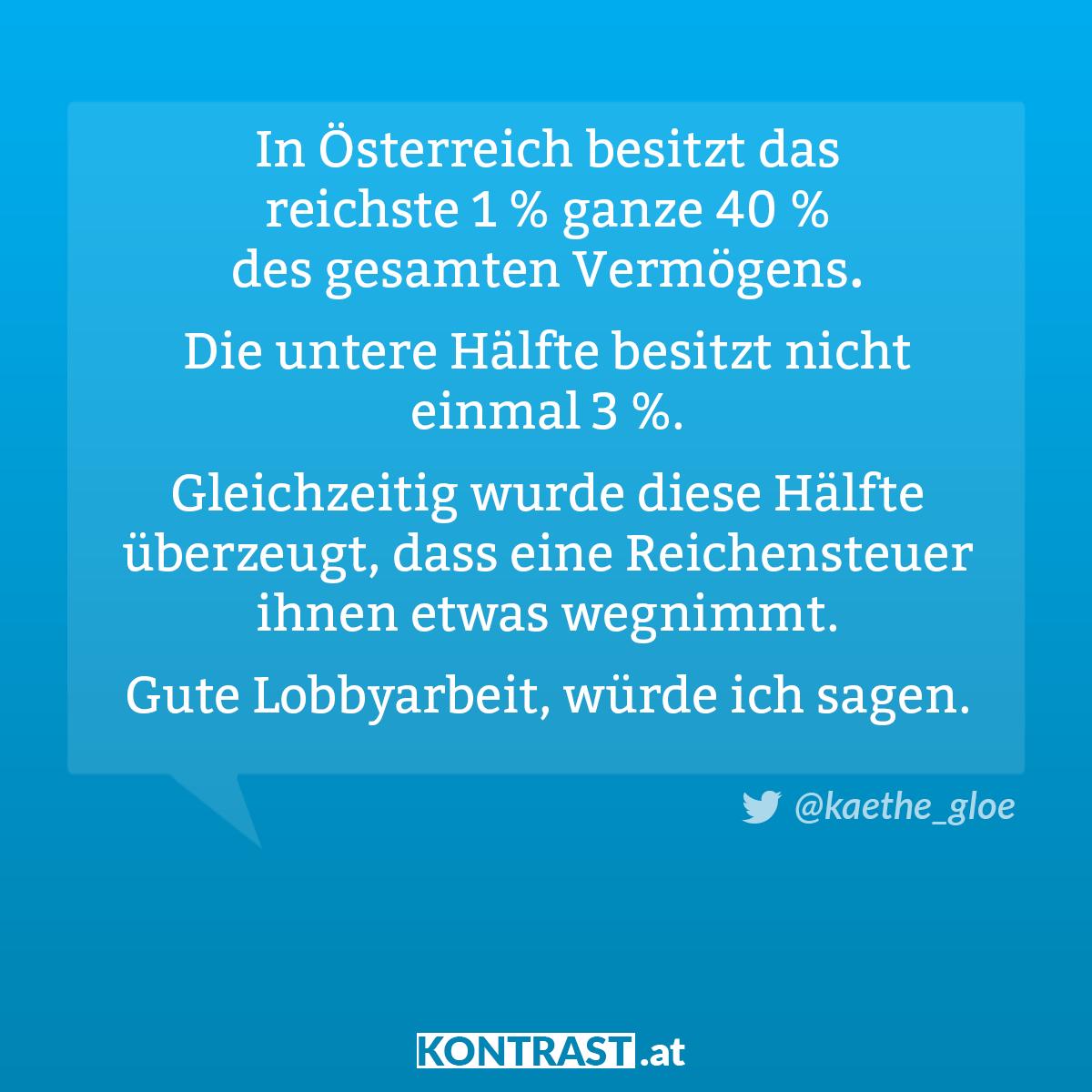 In Österreich ist Vermögen sehr sehr ungleich verteilt
