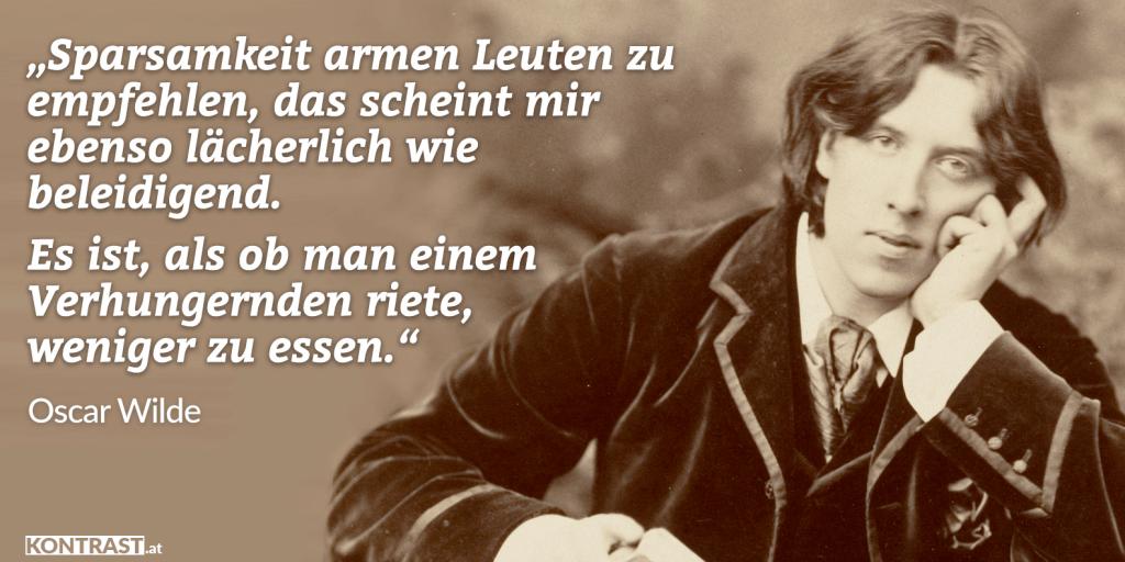 Oscar Wilde Zitat Armut