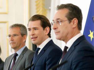 Sebastian Kurz, Hartwig Löger und HC Strache