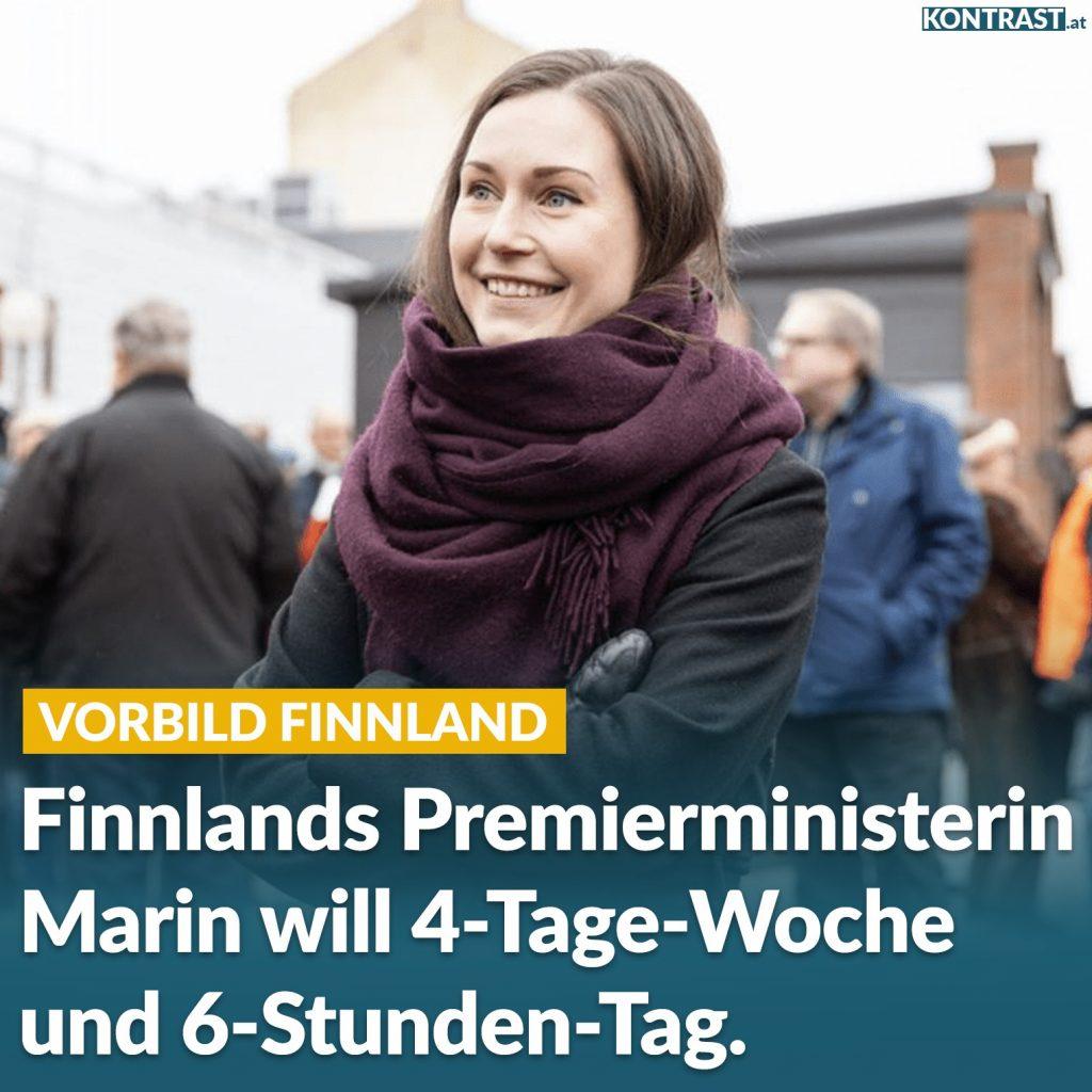 finnland 4 tage woche 6 stunden tag Sanna Marin