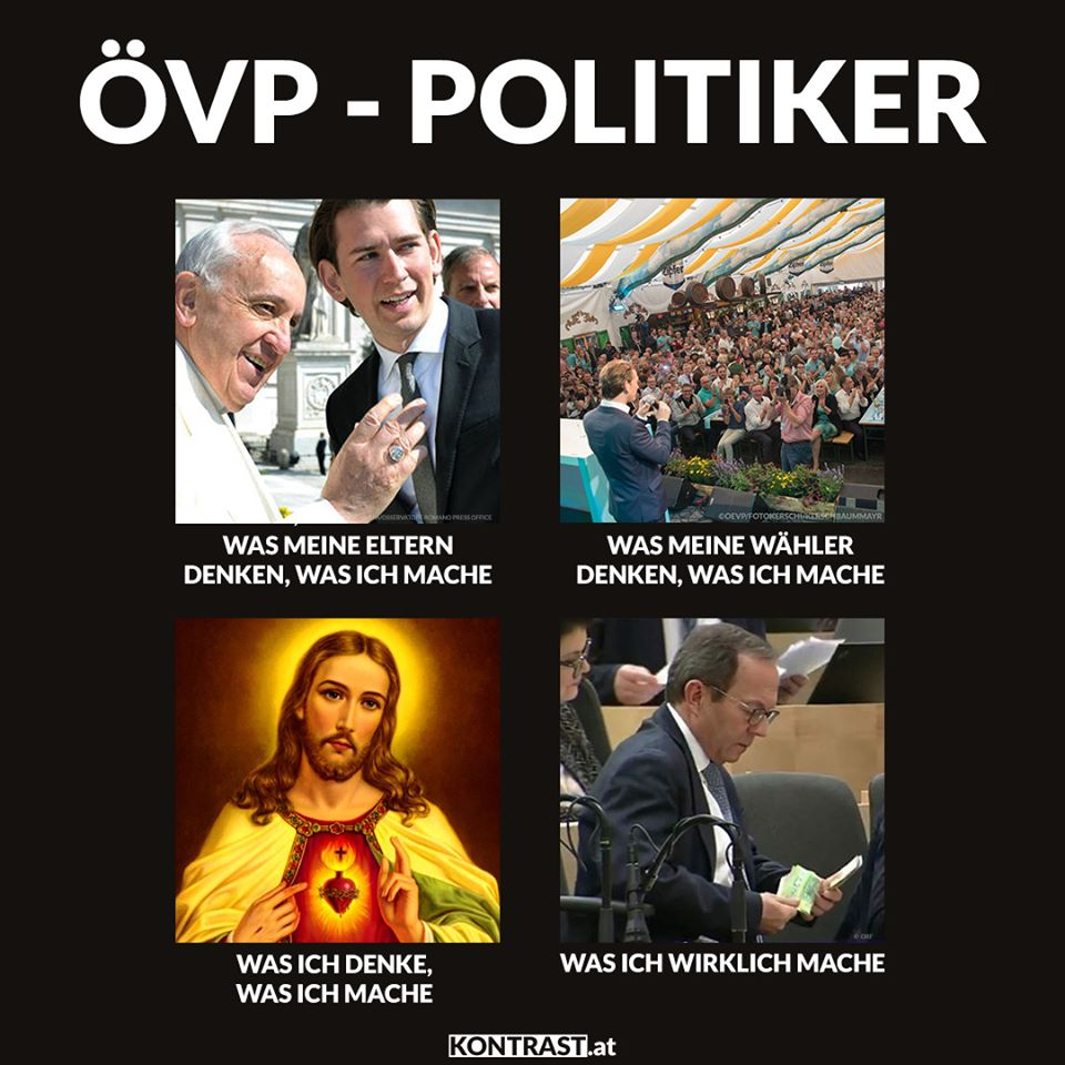 Wenn ÖVP-Politiker Geld zählen, lacht das Netz