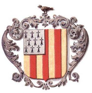 Das Bild zeigt das Wappen der Stadt Geel. Geel liegt in Belgien und dort gibt es Pflege für psychisch Kranke in privat Haushalten.