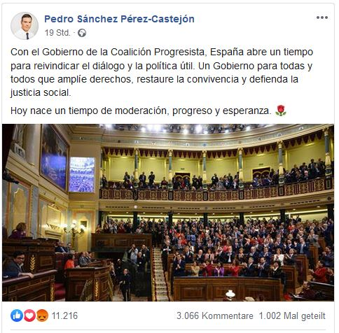 pedro sanchez spanien regierung