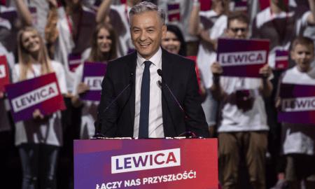 Robert Biedroń während der polnischen Parlamentswahlen 2019
